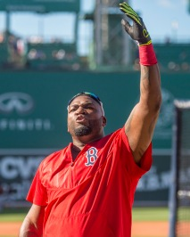 BOSTON, MA - JUNE 14: David Ortiz #34 of the Boston Red Sox reacts before a game against the Baltimore Orioles on June 14, 2016 at Fenway Park in Boston, Massachusetts. (Photo by Billie Weiss/Boston Red Sox/Getty Images) *** Local Caption *** David Ortiz