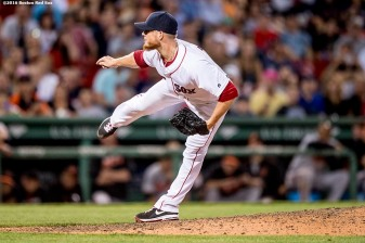 BOSTON, MA - JUNE 15: Craig Kimbrel #46 of the Boston Red Sox delivers during the ninth inning of a game against the Baltimore Orioles on June 15, 2016 at Fenway Park in Boston, Massachusetts. (Photo by Billie Weiss/Boston Red Sox/Getty Images) *** Local Caption *** Craig Kimbrel