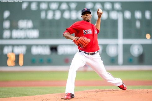 BOSTON, MA - JUNE 17: Roenis Elias #29 of the Boston Red Sox delivers during the first inning of his Boston Red Sox debut against the Seattle Mariners on June 17, 2016 at Fenway Park in Boston, Massachusetts. (Photo by Billie Weiss/Boston Red Sox/Getty Images) *** Local Caption *** Roenis Elias