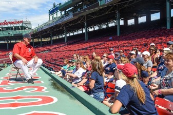June 22, 2016, Boston, MA: Boston Red Sox manager John Farrell speaks during the Girls of Summer event at Fenway Park in Boston, Massachusetts Tuesday, June 22, 2016. (Photo by Billie Weiss/Boston Red Sox)