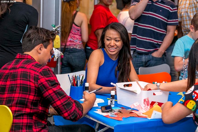 June 23, 2016, Boston, MA: Guests participate in art making projects during Teen Night at the Isabella Stewart Gardner Museum in Boston, Massachusetts Thursday, June 23, 2016. (Photo by Billie Weiss/Isabella Stewart Gardner Museum)