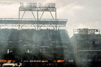 July 11, 2016, San Diego, CA: Sun rays shine during the Home Run Derby at the 2016 Major League Baseball All-Star Game at PETCO Park in San Diego, California Monday, July 11, 2016. (Photos by Billie Weiss/Boston Red Sox)