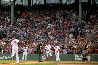 BOSTON, MA - JULY 19: David Ortiz #34 of the Boston Red Sox rounds the bases after hitting a two run home run during the fourth inning of a game against the San Francisco Giants on July 19, 2016 at Fenway Park in Boston, Massachusetts. (Photo by Billie Weiss/Boston Red Sox/Getty Images) *** Local Caption *** David Ortiz