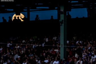 BOSTON, MA - JULY 19: The moon is shown through the concourse during a game between the Boston Red Sox and the San Francisco Giants on July 19, 2016 at Fenway Park in Boston, Massachusetts. (Photo by Billie Weiss/Boston Red Sox/Getty Images) *** Local Caption ***
