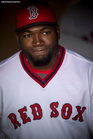 BOSTON, MA - JULY 20: David Ortiz #34 of the Boston Red Sox emerges from the dugout tunnel before a game against the San Francisco Giants on July 20, 2016 at Fenway Park in Boston, Massachusetts. (Photo by Billie Weiss/Boston Red Sox/Getty Images) *** Local Caption *** David Ortiz