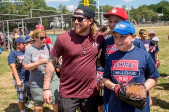 July 26, 2016, Boston, MA: Boston Red Sox pitcher Robbie Ross Jr. poses for a photograph during a Sox Talk clinic with the T-Mobile Mobile Red Sox Showcase Truck at Billings Field in West Roxbury, Massachusetts Tuesday, July 26, 2016. (Photo by Billie Weiss/Boston Red Sox)