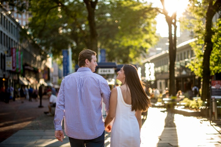 """The engagement of Ashley and John in Faneuil Hall in Boston, Massachusetts Monday, August 8, 2016."""