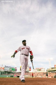 BOSTON, MA - AUGUST 9: David Ortiz #34 of the Boston Red Sox walks off the field before a game against the New York Yankees on August 9, 2016 at Fenway Park in Boston, Massachusetts. (Photo by Billie Weiss/Boston Red Sox/Getty Images) *** Local Caption *** David Ortiz