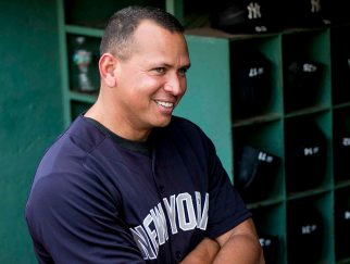 BOSTON, MA - AUGUST 9: Alex Rodriguez #13 of the New York Yankees reacts before a game against the Boston Red Sox on August 9, 2016 at Fenway Park in Boston, Massachusetts. (Photo by Billie Weiss/Boston Red Sox/Getty Images) *** Local Caption *** Alex Rodriguez