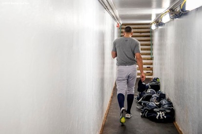 BOSTON, MA - AUGUST 10: Alex Rodriguez #13 of the New York Yankees walks through the tunnel before a game against the Boston Red Sox on August 10, 2016 at Fenway Park in Boston, Massachusetts. (Photo by Billie Weiss/Boston Red Sox/Getty Images) *** Local Caption *** Alex Rodriguez