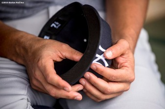 BOSTON, MA - AUGUST 10: Alex Rodriguez #13 of the New York Yankees holds his cap a game against the Boston Red Sox on August 10, 2016 at Fenway Park in Boston, Massachusetts. (Photo by Billie Weiss/Boston Red Sox/Getty Images) *** Local Caption *** Alex Rodriguez
