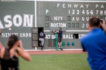 BOSTON, MA - AUGUST 11: Alex Rodriguez #13 of the New York Yankees walks inside the Green Monster scoreboard before a game against the Boston Red Sox on August 11, 2016 at Fenway Park in Boston, Massachusetts.(Photo by Billie Weiss/Boston Red Sox/Getty Images) *** Local Caption *** Alex Rodriguez