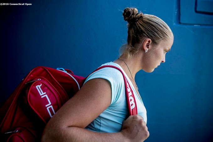 August 24, 2016, New Haven, Connecticut: Shelby Rogers of the United States walks through the tunnel during Day 6 of the 2016 Connecticut Open at the Yale University Tennis Center on Wednesday, August 24, 2016 in New Haven, Connecticut. (Photo by Billie Weiss/Connecticut Open)