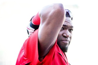 BOSTON, MA - AUGUST 29: David Ortiz #34 of the Boston Red Sox looks on before a game against the Tampa Bay Rays on August 29, 2016 at Fenway Park in Boston, Massachusetts. (Photo by Billie Weiss/Boston Red Sox/Getty Images) *** Local Caption *** David Ortiz