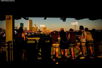 BOSTON, MA - AUGUST 29: Fans look on during a game between the Boston Red Sox and the Tampa Bay Rays on August 29, 2016 at Fenway Park in Boston, Massachusetts. (Photo by Billie Weiss/Boston Red Sox/Getty Images) *** Local Caption ***