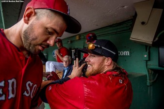 BOSTON, MA - SEPTEMBER 14: Robbie Ross Jr.#28 of the Boston Red Sox reacts in the dugout before a game against the Baltimore Orioles on September 14, 2016 at Fenway Park in Boston, Massachusetts. (Photo by Billie Weiss/Boston Red Sox/Getty Images) *** Local Caption *** Robbie Ross Jr.