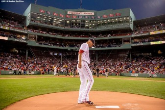 BOSTON, MA - SEPTEMBER 14: Rick Porcello #22 of the Boston Red Sox takes the mound before the first inning of a game against the Baltimore Orioles on September 14, 2016 at Fenway Park in Boston, Massachusetts. (Photo by Billie Weiss/Boston Red Sox/Getty Images) *** Local Caption *** Rick Porcello