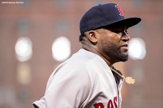BALTIMORE, MD - SEPTEMBER 20: David Ortiz #34 of the Boston Red Sox looks on before a game against the Baltimore Orioles on September 20, 2016 at Oriole Park at Camden Yards in Baltimore, Maryland. (Photo by Billie Weiss/Boston Red Sox/Getty Images) *** Local Caption *** David Ortiz