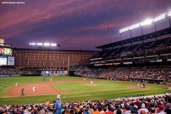 BALTIMORE, MD - SEPTEMBER 21: A general view during a game between the Boston Red Sox and the Baltimore Orioles on September 21, 2016 at Oriole Park at Camden Yards in Baltimore, Maryland. (Photo by Billie Weiss/Boston Red Sox/Getty Images) *** Local Caption ***