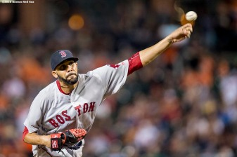 BALTIMORE, MD - SEPTEMBER 22: David Price #24 of the Boston Red Sox delivers during the third inning of a game against the Baltimore Orioles on September 22, 2016 at Oriole Park at Camden Yards in Baltimore, Maryland. (Photo by Billie Weiss/Boston Red Sox/Getty Images) *** Local Caption *** David Price