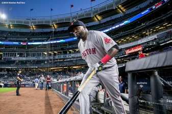 NEW YORK, NY - SEPTEMBER 27: David Ortiz #34 of the Boston Red Sox takes the field before a game against the New York Yankees on September 27, 2016 at Yankee Stadium in the Bronx borough of New York City. (Photo by Billie Weiss/Boston Red Sox/Getty Images) *** Local Caption *** David Ortiz