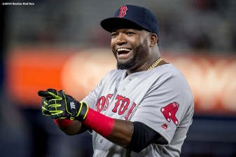 NEW YORK, NY - SEPTEMBER 28: David Ortiz #34 of the Boston Red Sox reacts before a game against the New York Yankees on September 28, 2016 at Yankee Stadium in the Bronx borough of New York City. (Photo by Billie Weiss/Boston Red Sox/Getty Images) *** Local Caption *** David Ortiz