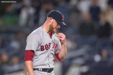 NEW YORK, NY - SEPTEMBER 28: Craig Kimbrel #47 of the Boston Red Sox reacts during the ninth inning of a game against the New York Yankees on September 28, 2016 at Yankee Stadium in the Bronx borough of New York City. (Photo by Billie Weiss/Boston Red Sox/Getty Images) *** Local Caption *** Craig Kimbrel