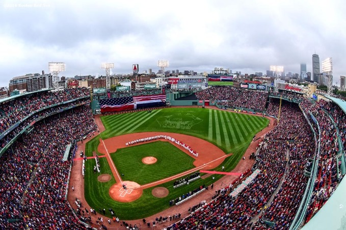 BOSTON, MA - OCTOBER 2: A general view during an honorary retirement ceremony for David Ortiz #34 of the Boston Red Sox in his final regular season game at Fenway Park against the Toronto Blue Jays on October 2, 2016 at Fenway Park in Boston, Massachusetts. (Photo by Billie Weiss/Boston Red Sox/Getty Images) *** Local Caption *** David Ortiz
