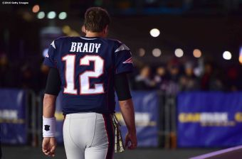 FOXBORO, MA - NOVEMBER 13: Tom Brady #12 of the New England Patriots reacts following a game against the Seattle Seahawks at Gillette Stadium on November 13, 2016 in Foxboro, Massachusetts. (Photo by Billie Weiss/Getty Images) *** Local Caption *** Tom Brady