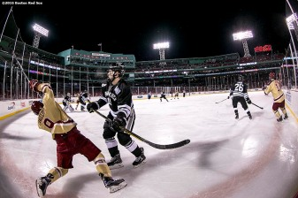 BOSTON, MA - JANUARY 08: Boston College and Providence University play a Frozen Fenway game at Fenway Park on January 8, 2017 in Boston, Massachusetts. (Photo by Billie Weiss/Boston Red Sox/Getty Images)