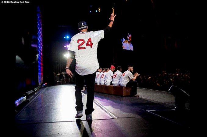 January 20, 2017, Ledyard, CT: Boston Red Sox pitcher David Price is introduced at the sixth annual NESN Town Hall during during the 2017 Red Sox Winter Weekend at Foxwoods Resort & Casino in Mashantucket, Connecticut Friday, January 20, 2017. (Photo by Billie Weiss/Boston Red Sox)