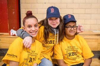 January 25, 2017, Boston, MA: Members of the RBI League attend during the unveiling of a new indoor batting cage at the BCYFTobin Community Center in Roxbury Crossing, Massachusetts Wednesday, January 25, 2017. (Photos by Billie Weiss/Boston Red Sox)