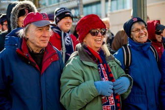 February 6, 2017, Boston, MA: Fans attend Truck Day at Fenway Park in Boston, Massachusetts Monday, February 6, 2017. (Photo by Billie Weiss/Boston Red Sox)
