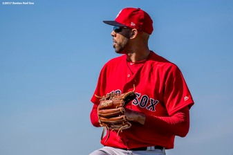 FT. MYERS, FL - FEBRUARY 17: David Price #24of the Boston Red Sox throws during a team workout on February 17, 2017 at Fenway South in Fort Myers, Florida . (Photo by Billie Weiss/Boston Red Sox/Getty Images) *** Local Caption *** David Price