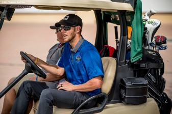 FT. MYERS, FL - FEBRUARY 21: Boston Red Sox pitcher Chris Sale drives a golf cart during a Golf Tournament on February 21, 2017 at Fenway South in Fort Myers, Florida . (Photo by Billie Weiss/Boston Red Sox/Getty Images) *** Local Caption ***