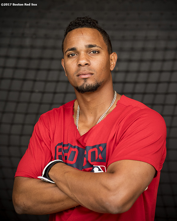 FT. MYERS, FL - FEBRUARY 21: Xander Bogaerts #2 of the Boston Red Sox poses for a photograph during a team workout on February 21, 2017 at Fenway South in Fort Myers, Florida . (Photo by Billie Weiss/Boston Red Sox/Getty Images) *** Local Caption *** Xander Bogaerts