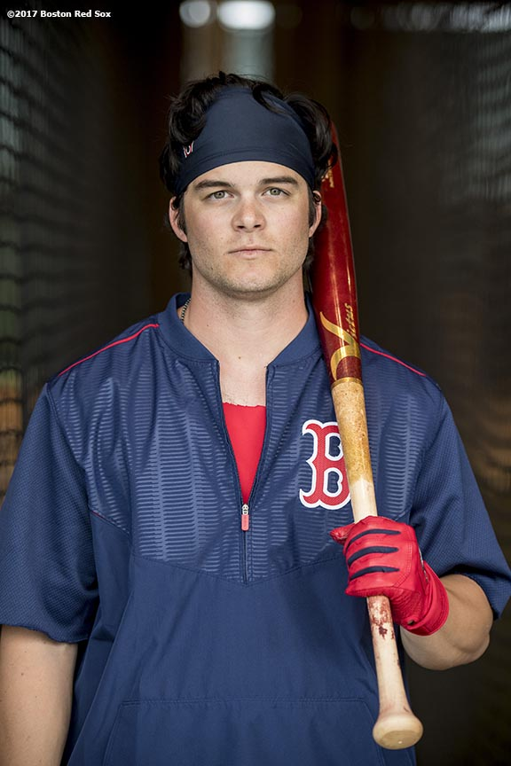 FT. MYERS, FL - FEBRUARY 21: Andrew Benintendi #16 of the Boston Red Sox poses for a portrait during a team workout on February 21, 2017 at Fenway South in Fort Myers, Florida . (Photo by Billie Weiss/Boston Red Sox/Getty Images) *** Local Caption *** Andrew Benintendi