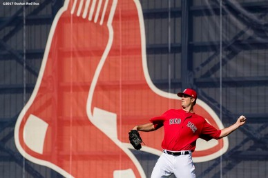 FT. MYERS, FL - FEBRUARY 23: Drew Pomeranz #31 of the Boston Red Sox throws before a game against Northeastern University on February 23, 2017 at Fenway South in Fort Myers, Florida . (Photo by Billie Weiss/Boston Red Sox/Getty Images) *** Local Caption *** Drew Pomeranz