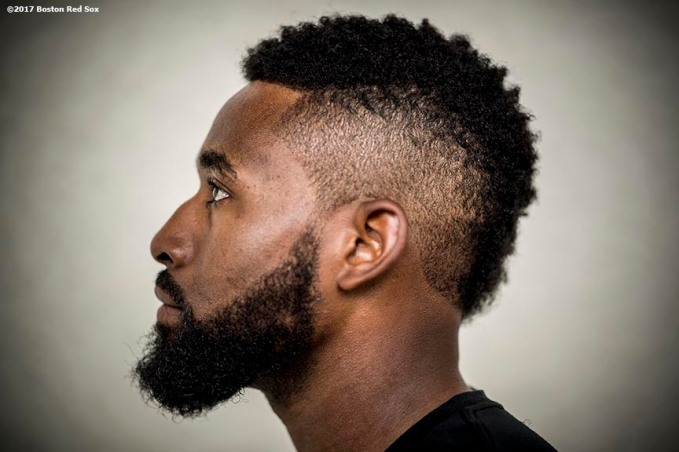 FT. MYERS, FL - FEBRUARY 24: Jackie Bradley Jr. #19 of the Boston Red Sox poses for a portrait before a game against the New York Mets on February 24, 2017 at Fenway South in Fort Myers, Florida . (Photo by Billie Weiss/Boston Red Sox/Getty Images) *** Local Caption *** Jackie Bradley Jr.