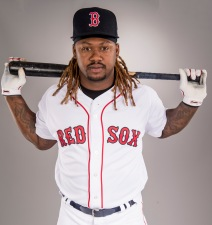 FT. MYERS, FL - FEBRUARY 19: Hanley Ramirez of the Boston Red Sox poses for a portrait during photo day on February 19, 2017 at Fenway South in Fort Myers, Florida . (Photo by Billie Weiss/Boston Red Sox/Getty Images) *** Local Caption *** Hanley Ramirez