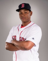 FT. MYERS, FL - FEBRUARY 19: Rafael Devers of the Boston Red Sox poses for a portrait during photo day on February 19, 2017 at Fenway South in Fort Myers, Florida . (Photo by Billie Weiss/Boston Red Sox/Getty Images) *** Local Caption *** Rafael Devers