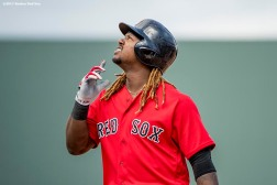 FT. MYERS, FL - MARCH 2: of the Boston Red Sox during a Spring Training game against the Tampa Bay Rays on March 2, 2017 at Fenway South in Fort Myers, Florida . (Photo by Billie Weiss/Boston Red Sox/Getty Images) *** Local Caption ***