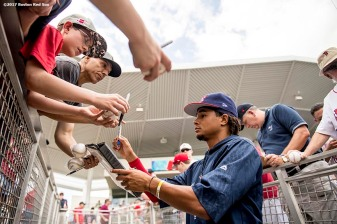 FT. MYERS, FL - MARCH 9: Marcus Stroman of Team USA signs autographs before a Spring Training game against the Boston Red Sox on March 9, 2017 at Fenway South in Fort Myers, Florida . (Photo by Billie Weiss/Boston Red Sox/Getty Images) *** Local Caption *** Marcus Stroman