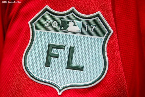 FT. MYERS, FL - MARCH 9: A Spring Training patch is shown during a game between the Boston Red Sox and Team USA on March 9, 2017 at Fenway South in Fort Myers, Florida . (Photo by Billie Weiss/Boston Red Sox/Getty Images) *** Local Caption ***
