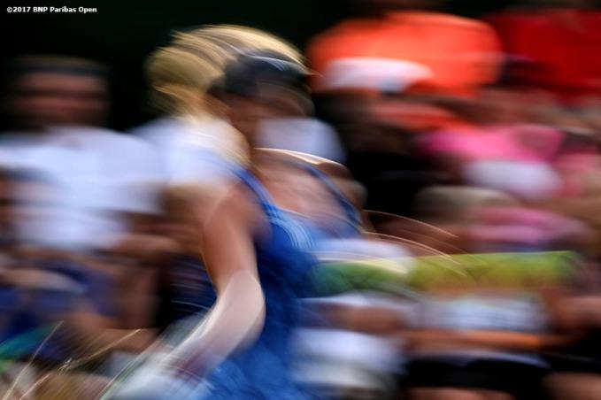 Kiki Bertens in action against Belinda Bencic at the Indian Wells Tennis Garden in Indian Wells, California on Friday, March 10, 2017. (Photo by Billie Weiss/BNP Paribas Open)