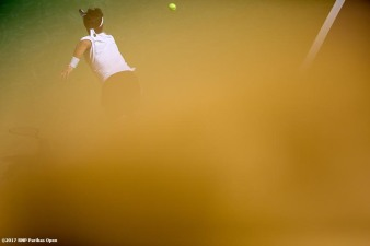 Fabio Fognini walks through the tunnel before a match against Jo-Wilfried Tsonga at the Indian Wells Tennis Garden in Indian Wells, California on Saturday, March 11, 2017. (Photo by Billie Weiss/BNP Paribas Open)