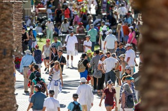 Fans attend the 2017 BNP Paribas Open at the Indian Wells Tennis Garden in Indian Wells, California on Saturday, March 11, 2017. (Photo by Billie Weiss/BNP Paribas Open)