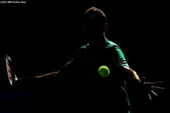 Juan Martin Del Potro in action during a match against Federico Delbonis during the 2017 BNP Paribas Open at the Indian Wells Tennis Garden in Indian Wells, California on Sunday, March 12, 2017. (Photo by Billie Weiss/BNP Paribas Open)