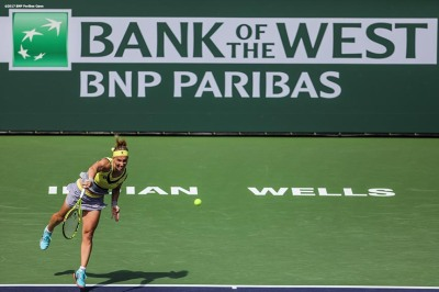 Svetlana Kuznetsova in action during a match against Anastasia Pavlyuchenkova at the Indian Wells Tennis Garden in Indian Wells, California on Saturday, March 11, 2017. (Photo by Billie Weiss/BNP Paribas Open)
