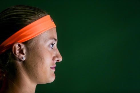 Kristina Mladenovic walks through the tunnel before the semi-final match at the Indian Wells Tennis Garden in Indian Wells, California on Friday, March 17, 2017. (Photo by Billie Weiss/BNP Paribas Open)